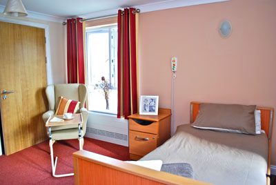 Dementia Care Home - typical bedroom at Heron's Court Worcestershire